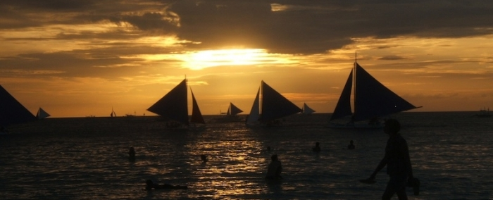 Boracay Island Philippines Sailing Sunset