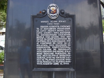 Manuel P Laurel Statue on Roxas Boulevard
