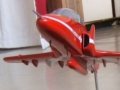 Beautiful Red Arrows Wooden Model