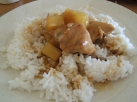 pinoy food  chicken with pineaples